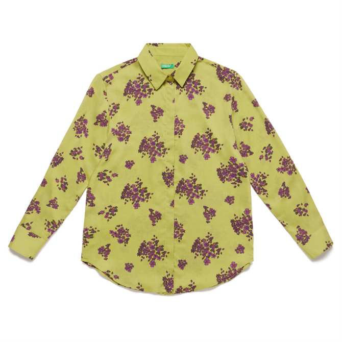United Colors of Benetton Floral Printed Shirt
